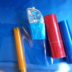 Folie stopuri, proiectoare, faruri:galbena, rosie, albastra, transparenta fumurie - Folie Auto