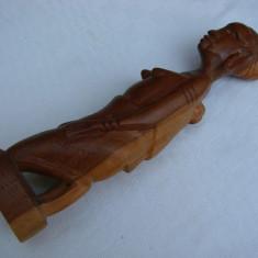 Frumoasa sculptura in lemn de esenta exotica - arta africana, Africa