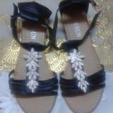 Marime 38 - Sandale dama, Culoare: Negru