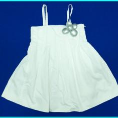 DE FIRMA→ Rochie de vara, FRUMOASA, din bumbac, ZARA → fetite | 3—4 ani | 104 cm, Alb
