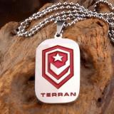 Dog Tag (DogTag) Terran Starcraft Titaniu - Pandantiv inox