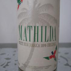 Rum - ron - rom - mathilda, white rum jamaica 100% 70cl. 40%vol imported italy