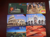 Carti telefon Italia  6 buc  4383/4
