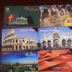 Carti telefon Italia 6 buc 4383/4 - Cartela telefonica straina