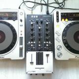 Pioneer CDJ800 MK2+Mixer Eclere NUO 2.0+NI AUDIO 4+BOXE BASS