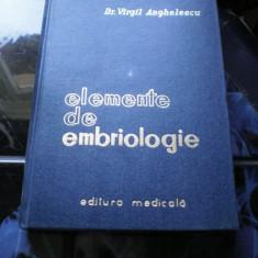 ELEMENTE DE EMBRIOLOGIE DR. V. ANGHELESCU
