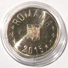 ROMANIA 50 BANI 2015 UNC - LUCIU DE MONETARIE ** - Moneda Romania