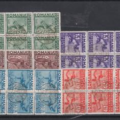ROMANIA 1937, LP 121, BALCANIADA DE ATLETISM, 6 SERII PRIMA ZI - LOT 2 RO - Timbre Romania