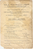 PROGRAM ASTRA SIBIU SALA TEATRULUI LIBER 1931