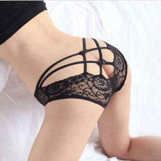 Bikini Mini G-string Chilotei Sexy Dantela Transparenti Dantela Chiloti - Chiloti dama, Culoare: Rosu, Roz, Marime: Marime universala