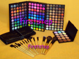 Trusa machiaj farduri MAC 180 culori set 15 pensule paleta concealer fond de ten, Mac Cosmetics