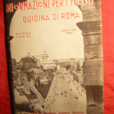 Harta Romei cu ghid pt. turisti - 1938 Italia