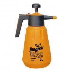 Pulverizator cu presiune de mana Kingjet 2 litri Pompa de stropit galben, De spate, 1.1-4, 1.1-3