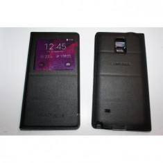 Husa Flip Cover S-View Samsung Note 4 neagra - Husa Telefon Samsung, Negru, Piele Ecologica, Cu clapeta