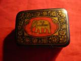 Cutie metal veche -de Ceai Ceylon - Elefant -dim. 8,3x5,5x3,2 cm