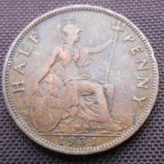 ANGLIA HALLF PENNY 1931, Europa