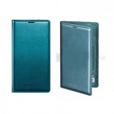 Husa Flip Cover Samsung Galaxy S5 SM-G900F verde ORIGINALA - Husa Telefon Samsung, Piele, Cu clapeta