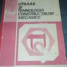 UTILAJUL SI TEHNOLOGIA CONSTRUCTIILOR MECANICE - MANUAL CLASA XI - Curs Tehnica