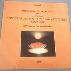 BEETHOVEN - CONCERTO No 5 - cu A. Benedetti Michelangeli - ELECTRECORD / VINIL - Muzica Rock