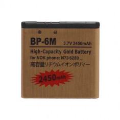 Acumulator De Putere Nokia BP-6M N73 N77 N93 9300 6288 6280 6234 6233 6151 3250 Gold 2450 mAh