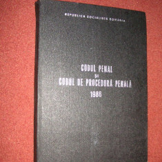 Codul penal si codul de procedura penala 1986 - Carte Codul penal adnotat