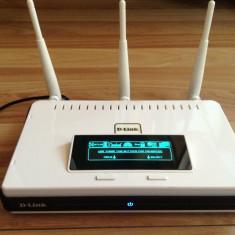 Router D-Link Dir-855 Xtreme N Gigabit dual band 2, 4gHz-5gHz, display, usb - Router wireless D-link, Port USB, Porturi LAN: 4