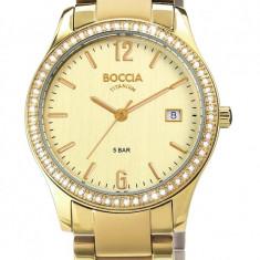 Ceas Boccia dama cod 3235-03 - pret vanzare 589 lei; NOU, original - Ceas dama Boccia, Elegant, Quartz, Titan, Data
