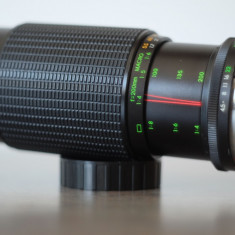 Obiectiv foto zoom 80-200mm/4.5 Makinon Minolta MD pt Sony, Fuji, Olympus 4/3 - Obiectiv DSLR Olympus, Tele, Manual focus