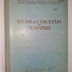 Studii si cercetari de pediatrie Ed. de stat 1953 ( vol. I ) - Carte Pediatrie
