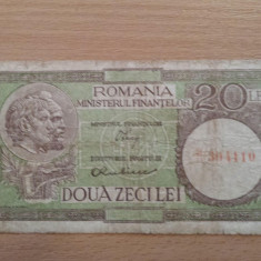 20 lei 1950 filigran 37 (VG) - Bancnota romaneasca