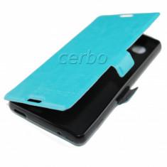HUSA SONY XPERIA Z3 COMPACT MINI cu inchidere magnetica blue UB - Husa Telefon Sony, Universala, Albastru, Piele Ecologica, Cu clapeta
