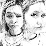 Portrete profesionale in creion/grafit/carbune A3 DOUBLE - Pictor roman, An: 2015, Realism