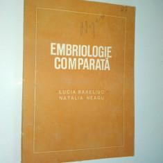 Embriologie comparata  Ed. medicala 1981