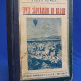 JULES VERNE - CINCI SAPTAMANI IN BALON - CULTURA ROMANEASCA ~ 1933 - Carte de colectie