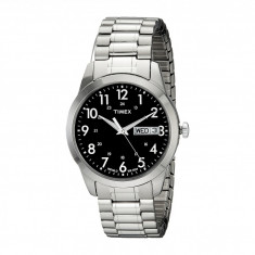 Ceas Timex Silver-Tone Analog Expansion Band Dress Watch | 100% original, import SUA, 10 zile lucratoare - Ceas barbatesc