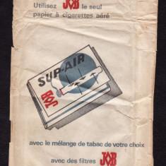 VINTAGE_Plic de epoca, ambalaj pentru foite de tigara J&B - Foite tigari