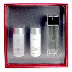 Giorgio Armani Emporio Armani Diamonds For Men Set 75+50+50 pentru barbati - Set parfum