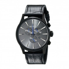 Ceas Nixon The Sentry Chrono Leather | 100% original, import SUA, 10 zile lucratoare - Ceas barbatesc Nixon, Casual, Quartz