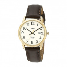 Ceas Timex Classic EZRead Analog Gold Case Brown Leather Strap Watch | 100% original, import SUA, 10 zile lucratoare - Ceas barbatesc