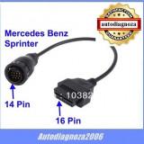Cablu adaptor  Mercedes Sprinter - VW LT 14 pini  tester auto DS150 CDP+ OBD2