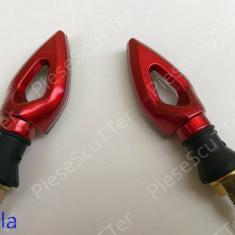 Set Semnale / semnal / semnalizari moto scuter ATV LED ( rosu ) - Semnalizare Moto
