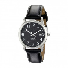 Ceas Timex Classic EZRead Analog Silver Case Black Leather Strap Watch | 100% original, import SUA, 10 zile lucratoare - Ceas barbatesc