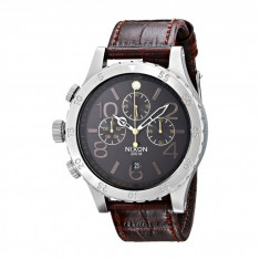 Ceas Nixon The 48-20 Chrono Leather | 100% original, import SUA, 10 zile lucratoare - Ceas barbatesc Nixon, Casual, Quartz