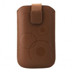 Toc Slim iPHONE 4/Samsung Ace maro - Husa Telefon Atlas, Piele Ecologica