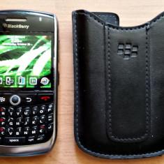 Telefon Blackberry 8900 liber retea necodat toc piele GRATUIT, Negru, Nu se aplica, Neblocat, Fara procesor