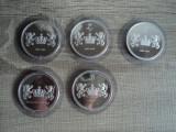 M. Set Belgia, 5 piese,  161 grame, 925/1000 argint