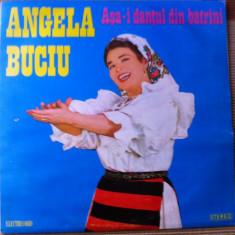 Angela buciu asa i dantul din barani album disc vinyl lp Muzica Populara electrecord folclor, VINIL