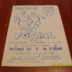 program      Poli  iasi  -  Jiul  Petrosani  14 11 1979