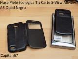 Husa Piele Ecologica Tip Carte S-View Allview A5 Quad Negru