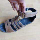 Sandale gladiator ARA din piele naturala, Designed in Germany; marime 43,28.5 cm